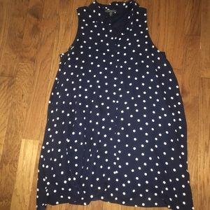 Polka Dot Dress with Collar